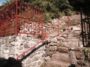 Red railings