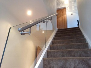 Glass down stairs